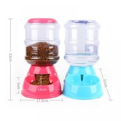 Portable Pet Dog Cat Automatic Feeders Water Dispenser for Small Medium Large Dogs Pet Dog Supplies Automatic Feeder, Owning A Cat, Love Your Pet, Pet Feeder, Cat Feeding, Water Dispenser, Cat Supplies, Mason Jar Wine Glass, Dogs