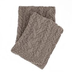 Yarn Bomb Knit Throw by Pine Cone Hill Gray - PC1045-THR