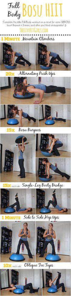 Full Body Bosu HIIT Workout #bosu