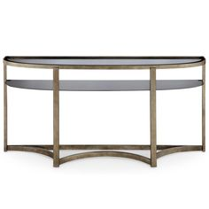 Magnussen Home Furnishings Frisco Contemporary Antique Pewter Demilune Console Table