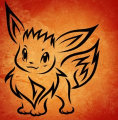 how to draw tribal eevee