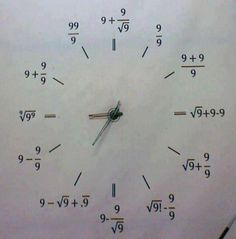 Funny pictures about A special clock. Oh, and cool pics about A special clock. Also, A special clock. Love Math, Fun Math, Math Math, Math Classroom, Future Classroom, Math Tutor, Teaching Math, Math Skills, Math Lessons