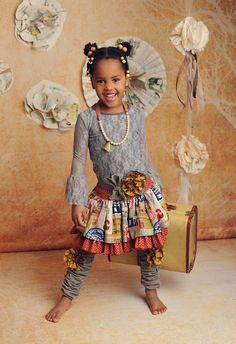 Persnickety. Great kids photography.Gray lace top, Lily skirt, Gray leg warmers