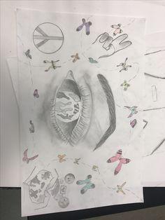 vandaag was de laatste les voor deze opdracht en k heb vandaag de vlinders afgemaakt en ingekleurd, k vond deze opdracht super leuk omdat ik het arceren eerst super moeilijk vind heb k nu heel goed geleerd hoe k beter/goed kan arceren. En dat vind k nu heel erg leuk om te doen.