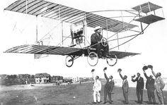 Prince Jonah Kūhiō Kalaniana'ole Pi'ikoi(1871–1922) flying in a plane, circa 1922.