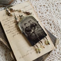 Rosy Cheeked Ladies, Coin Purse Tintype Necklace by CreekwoodCourt on Etsy Found Object Jewelry, Tintype Photos, Love My Family, Coin Purses, Stainless Steel Chain, Necklace Lengths, Jewerly, Pendants, Bronze