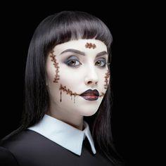 Siideways: Halloween Temporary Tattoo Bride of Frankenstein Stitches