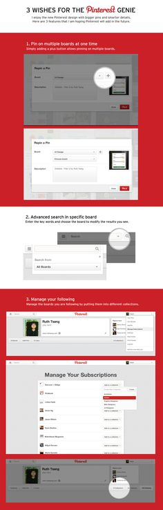 3 wishes for the Pinterest genie on Behance, Ruth Tsang