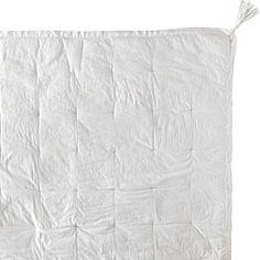 Tassel Quilt & Sham - White #serenaandlily