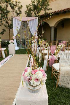 decoration alle eglise deco allee ceremonie mariage bougie bougeoirs