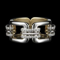 Chain-Link & Diamond Ring ~~ Alexandra Mor