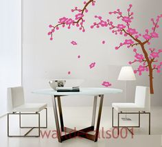 Kids Wall Decals Wall Stickers,tree,decal,sticker,baby,nursery,livingroom,bedroom,girl,art -cherry blossom