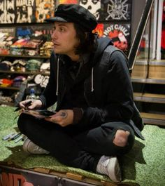 Omg is he in hot topic?? Cause that's what it looks like!