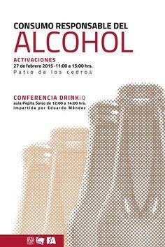 #ComunidadTAJR Invitación de Coordinacion De Apoyo Estudiantil para mañana al evento de consumo responsable del alcohol, en el patio de los cedros a partir de las 11:00 hrs y también en la conferencia DRINKiQ a las 12:00 hrs en el aula Pepita Saiso.
