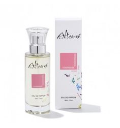 Eau de parfum Rose Tendresse Altearah Bio, certifiée vegan, bio à 98%, flacon en verre 30ml