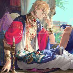 "Well then.sit next to me."" - Well then…sit next to me. Gilgamesh And Enkidu, Gilgamesh Fate, Hot Anime Boy, Cute Anime Guys, Got Anime, Anime Art, Character Inspiration, Character Art, Fate Anime Series"