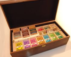 A hand made wooden box set of monopoly.
