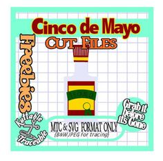 25 Days of Cinco de Mayo Cut File Freebies! Day 04 Bottle of Tequila MTC & SVG CUTTTING FILE