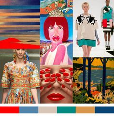 Color   Mediterranean Sun  Return to the Riviera in the 50s for color inspiration.    Epemsl   Julie Verhoeven   Tadanori Yokoo   Joanna Pybus   Tender is the Night Book Cover   Guy Bourdin   Dolce & Gabbana