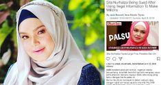 """Siti Beri Amaran Desak Blog Padam Entri Berita Palsu   Penyanyi tersohor Datuk Seri Siti Nurhaliza tidak teragak-agak mengambil tindakan undang-undang terhadap sebuah blog yang didakwa menyebar berita palsu menggunakan nama dan foto dirinya.  Memetik laporan BH online Siti memberi amaran tindakan tegas akan diambil jika pengendali blog terbabit berdegil enggan memadam entri yang tiada kena mengena dengan dirinya sebaliknya mengundang kekeliruan ramai.  """"Assalamualaikum semua. Ingatkan waktu…"""