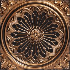 "Decorative Ceiling Tiles, Inc. Store - Rose Window - Faux Tin Ceiling Tile - 24""x24"" -"