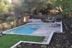 Backyard Pool Landscape - contemporary - landscape - san francisco - by Huettl Landscape Architecture