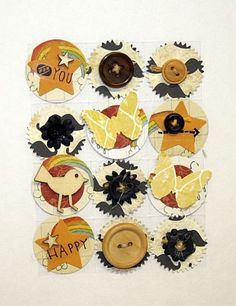 Paper Craft Embellishments Self Adhesive Art Bits by ArtFreckles