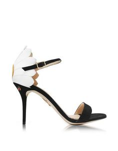 Marge Black White and Sunny Yellow Suede and Leather Sandal - http://www.fiftyshadestores.com/shop/shoes/marge-black-white-and-sunny-yellow-suede-and-leather-sandal/