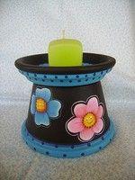paint a terra cotta pot - All About Clay Pot Projects, Clay Pot Crafts, Jar Crafts, Ceramic Pots, Terracotta Pots, Terracotta Paint, Mason Jar Candles, Diy Candles, Flower Pot Crafts