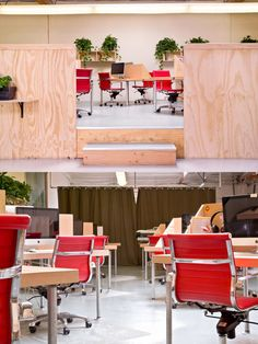 Open Plan Office with wood panel :) #openplanoffice Cubicles.com