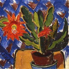 Karl Schmidt-Rottluff (German), Cactus in Bloom Ernst Ludwig Kirchner, Max Beckmann, Wassily Kandinsky, Paul Klee, Karl Schmidt Rottluff, Expressionist Artists, Color Collage, Desert Art, Art Academy