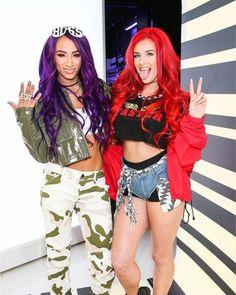 ef57e018abc Sasha Banks Justina Valentine Wwe Sasha Banks, Valentines, Punk, Style,  Rave,
