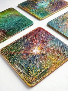 Our MDF Coasters Blanks are Back in Stock! - Shades of Clay Gilding Wax, Line Texture, Wire Brushes, Marker Pen, Mixed Media Artists, Paint Markers, Pigment Ink, Coin Collecting, Polymer Clay