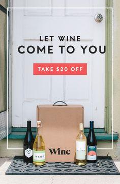 Winc Wine Club Membership and Gifts Wine Club Membership, Wine Subscription, Wine Delivery, Wines, Email Marketing, Bespoke, Packaging, Website, Box