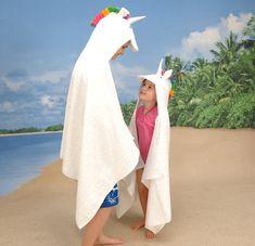 I always wanted to be a unicorn! Unicorn bath towel hood thingy