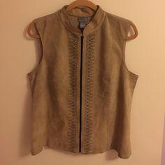 Selling this 💐Suede Zippered Vest🌹 on Poshmark! My username is: varnyp. #shopmycloset #poshmark #fashion #shopping #style #forsale #Sigrid Olsen #Jackets & Blazers