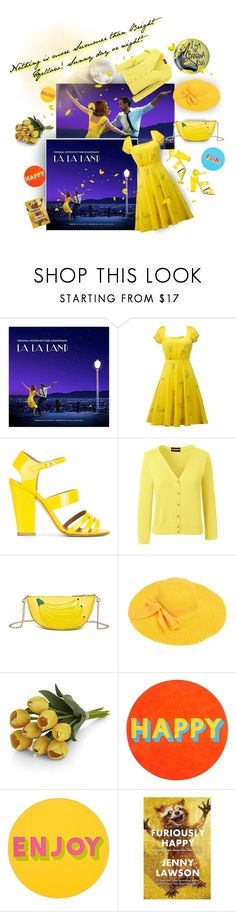 """""""sunny yellow day or night"""" by caroline-buster-brown ❤ liked on Polyvore featuring Laurence Dacade, Lands' End, Crate and Barrel, Lisa Perry, summercolors and plus size clothing"""