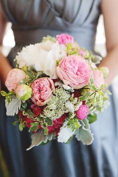 Pink wedding bouquet idea; Featured photo: Diana M Lott Photography