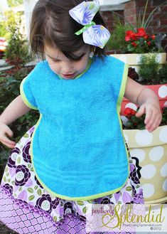Toddler Bib & Smock Pattern - The perfect way to keep little ones mess-free during meals and craft time!
