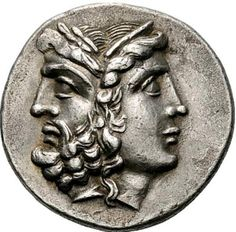 Tetradrachm with a Janiform head composed of a laureate and bearded head of Zeus to left and a diademed head of Hera to right. Tenedos, circa 100-70 BCE.