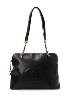 Vintage Chanel Leather Chain Shoulder Bag