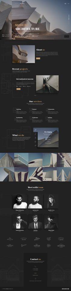 Onix - Multi Purpose Architecture / Interior / Portfolio PSD Template by UnionAgency Interior Design Videos, Interior Sketch, Interior Logo, Drawing Interior, Bauhaus Interior, Web Layout, Layout Design, Website Layout, Website Ideas