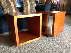 End table cubes