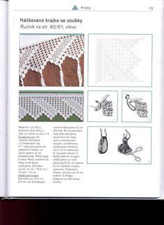 Borte/Bordüre Häkelschrift -- - - - - - - - Puntas a Crochet - Isabel Cristina Mejia - Picasa-Webalben Crochet Lace Edging, Crochet Borders, Crochet Diagram, Crochet Chart, Knit Or Crochet, Crochet Patterns, Crochet Stitches, Crochet Embellishments, Solange