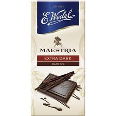 WEDEL Maestria Czekolada gorzka 72% Convenience Store, Packaging, Food, Master's Degree, Convinience Store, Eten, Wrapping, Meals, Diet