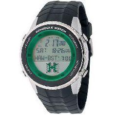 University of Hawaii Warriors Men's Schedule Wrist Watch