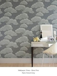 Pines - Silver Pine - Pines - Oriental Wallpaper - Shop by Collection - Wallpaper