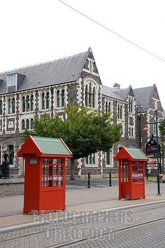 Christchurch, New Zealand - loved the red phone booths