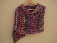 Peaceful shawl pattern designed for people in hospice.