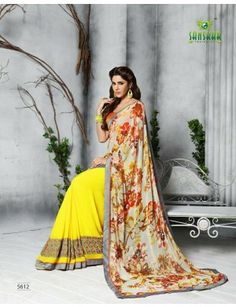 Sanskar Sukanya Designer Pritend Saree With Embroidery Work